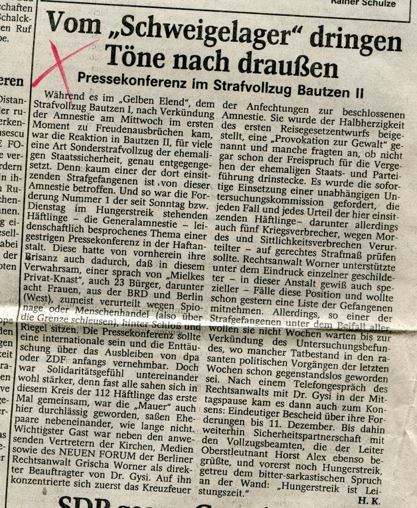 Die Sächsische Zeitung berichtet